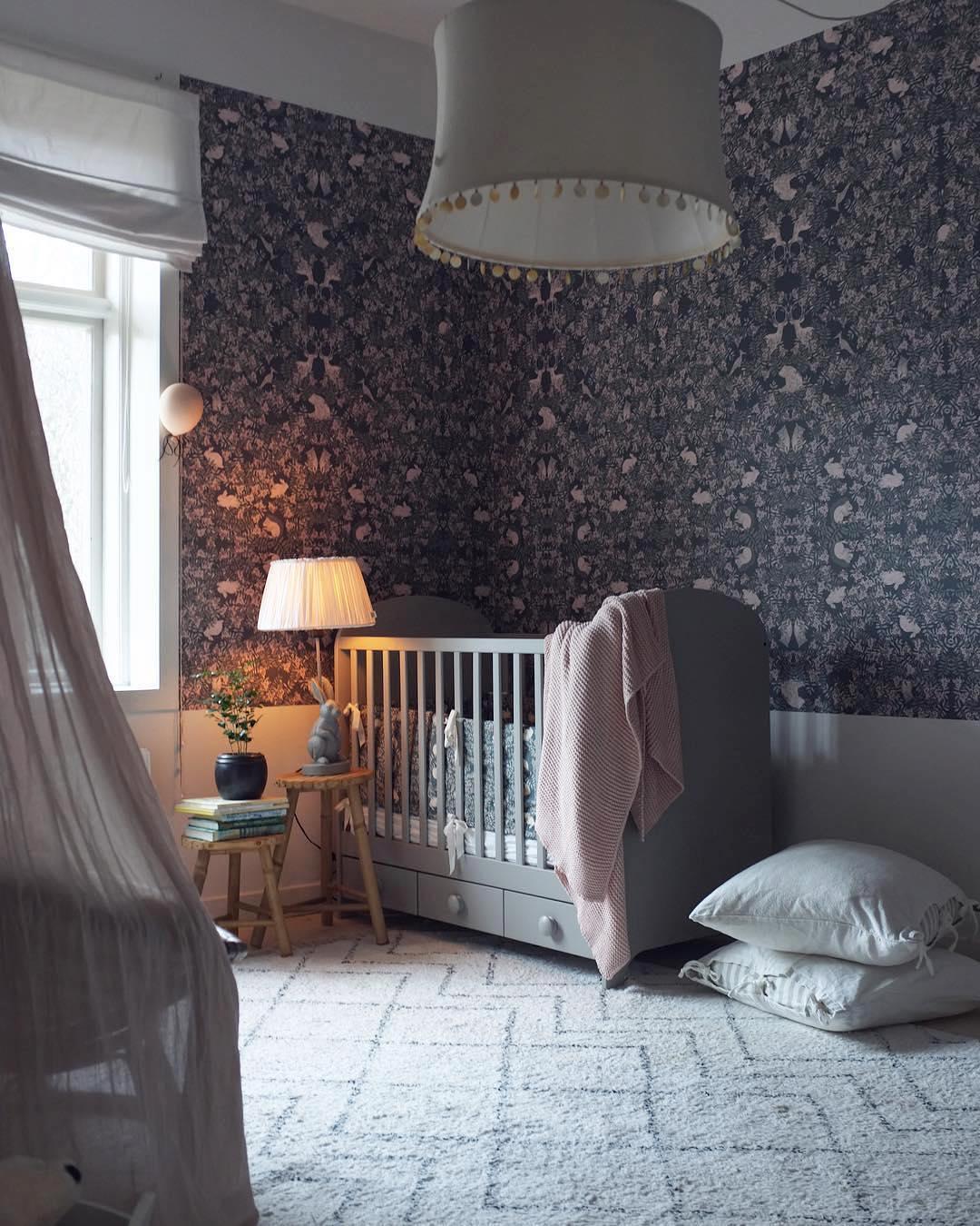 dark and moody nursery full of charm