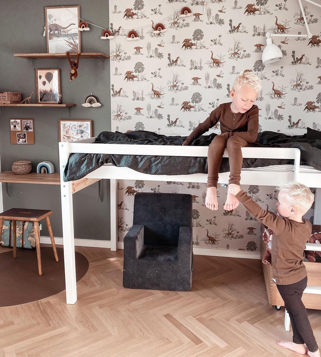 brown dinosaur walllpaper for kids
