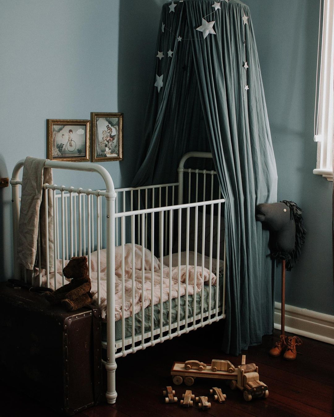 muted greens in baby nursery rooms
