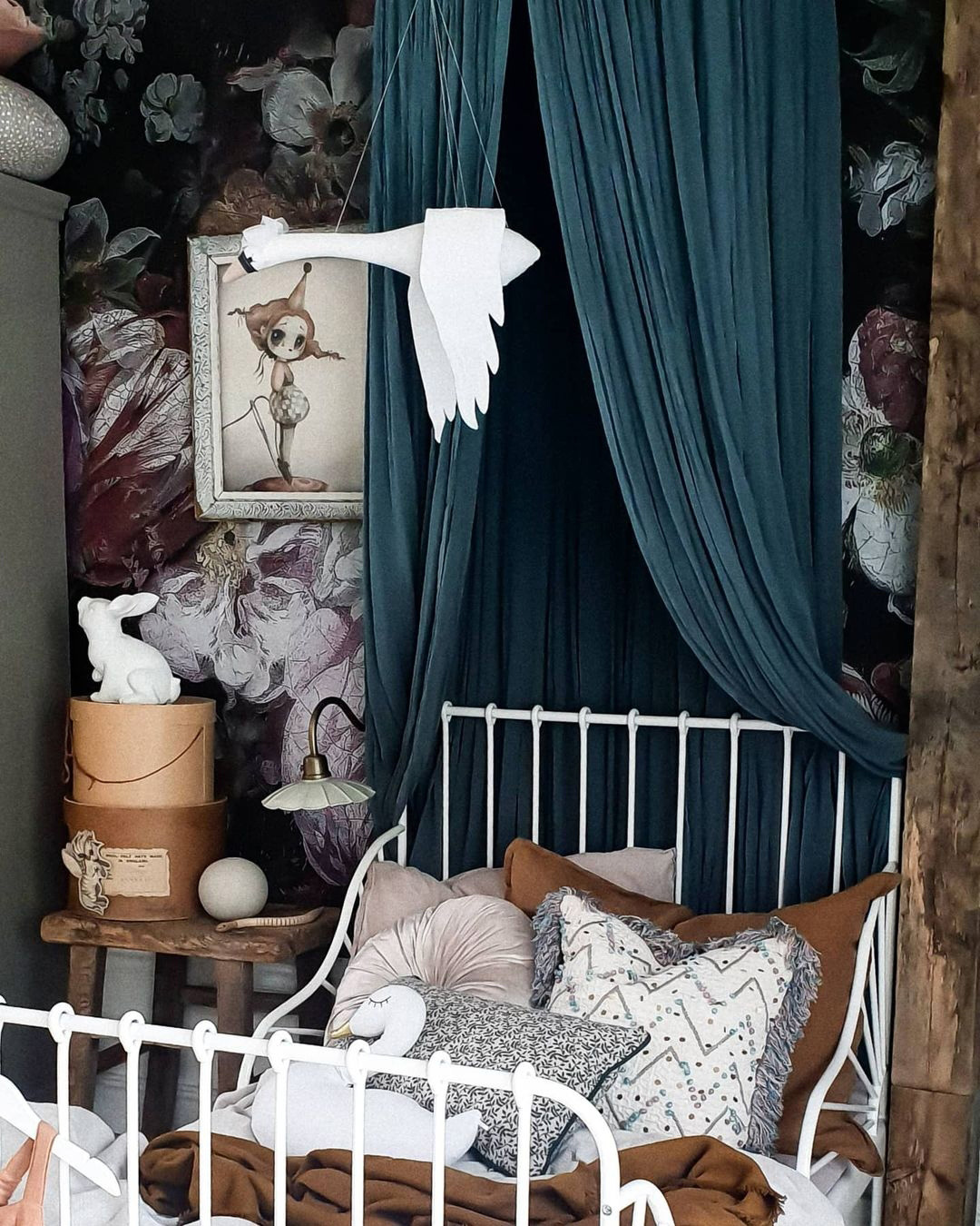 swan mobile for nursery or kids' rooms