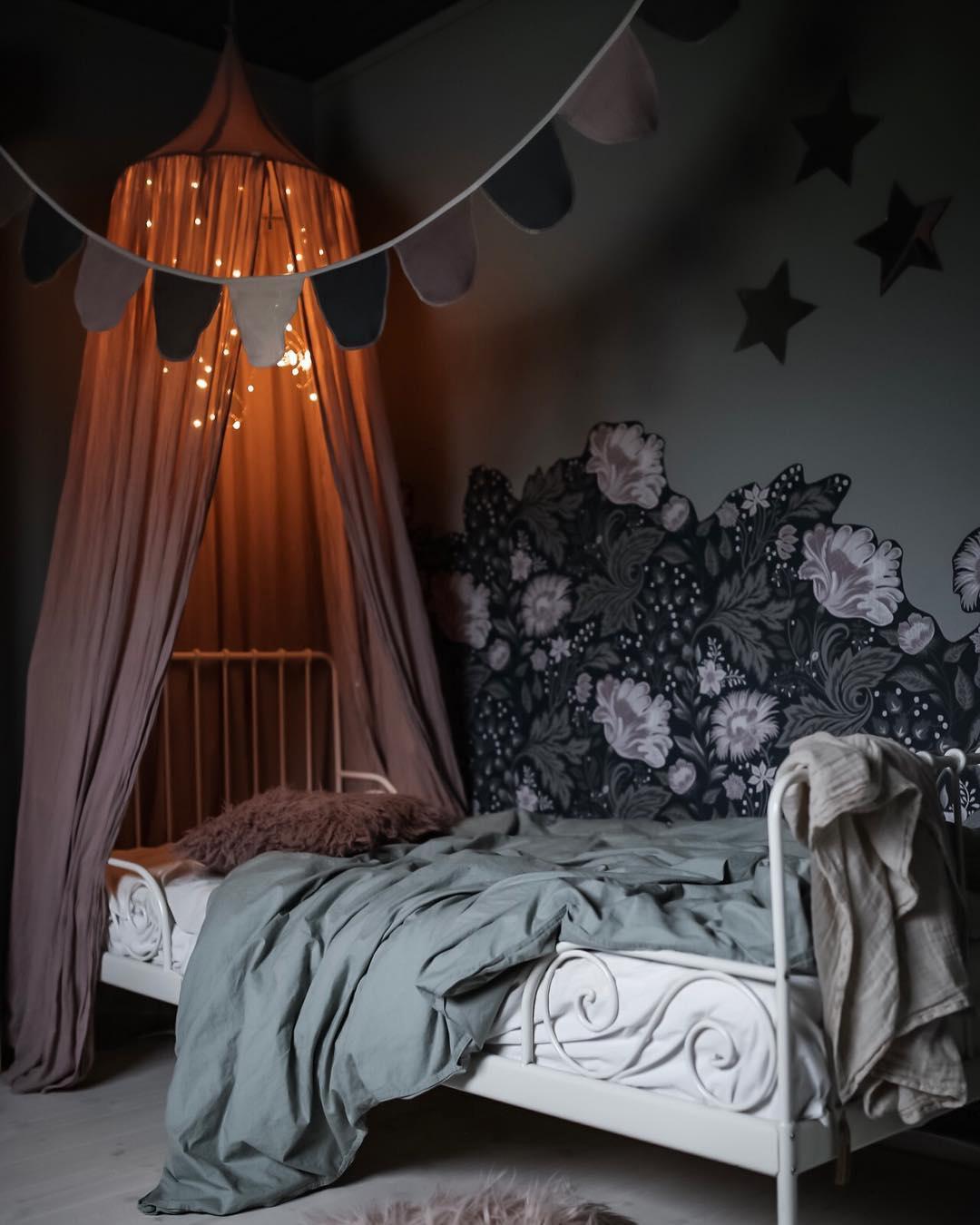 dark, romantic scandinavian kids rooms