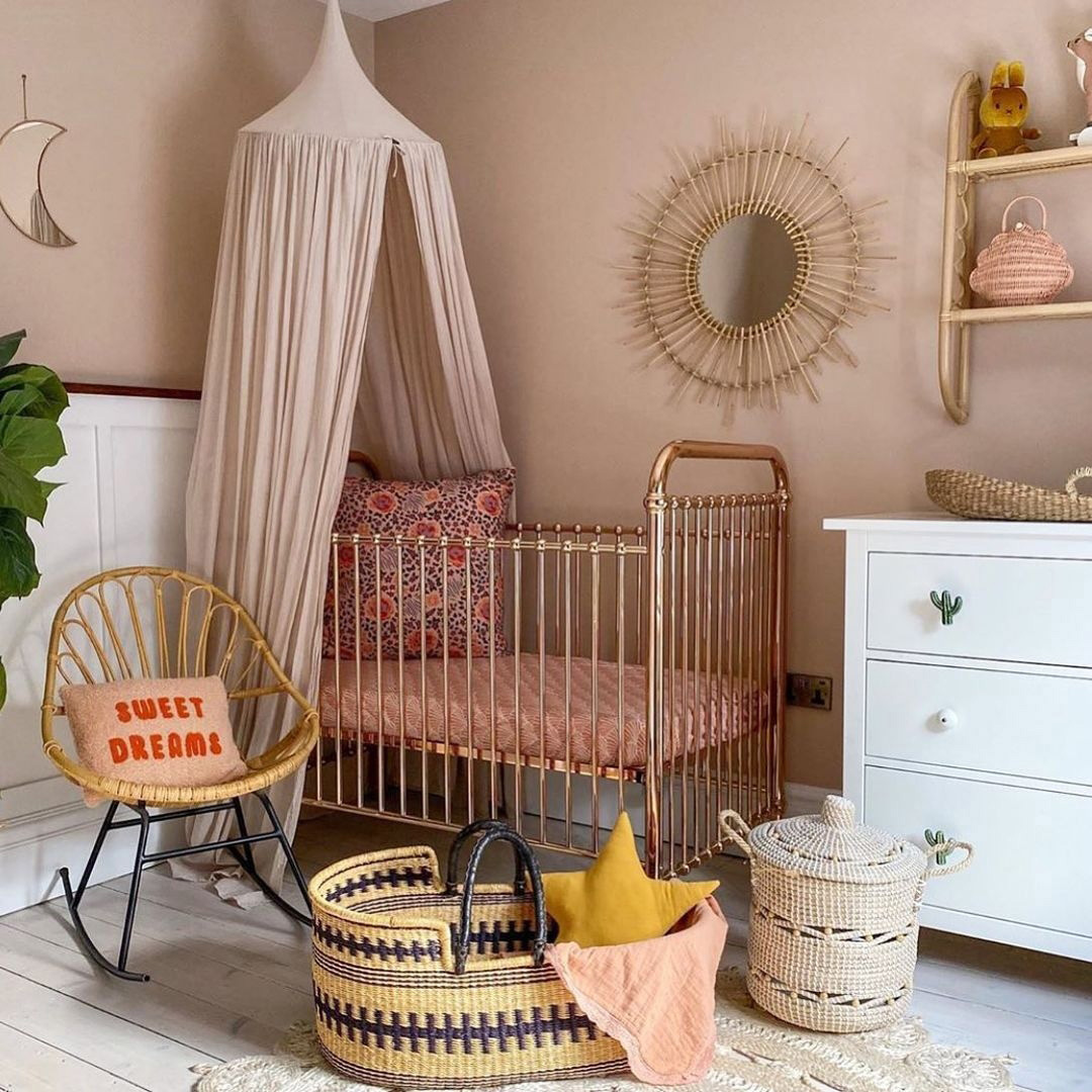 nude pinks in girl nursery