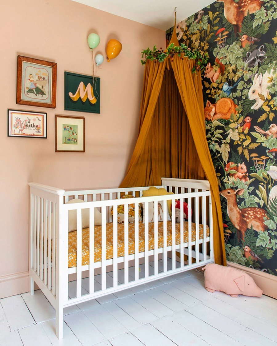 eclectic and original baby nursery